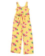 La Galleria - Tropical Tie Front Jumpsuit (7-16)-2494674