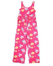 La Galleria - Tropical Tie Front Jumpsuit (7-16)-2494678