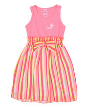 Girls - Love Rib Tank Dress W/ Striped Woven Skirt (4-6X)-2494662