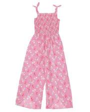 La Galleria - Floral Printed Smocked Top Jumpsuit (7-16)-2494622