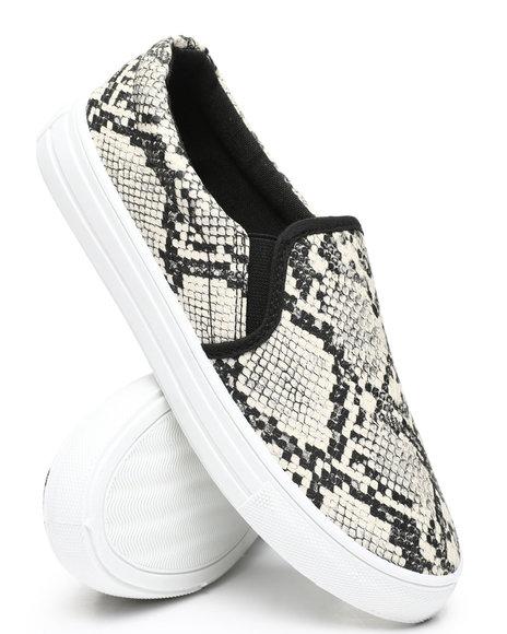 Qupid - Snake Slip-On Sneakers