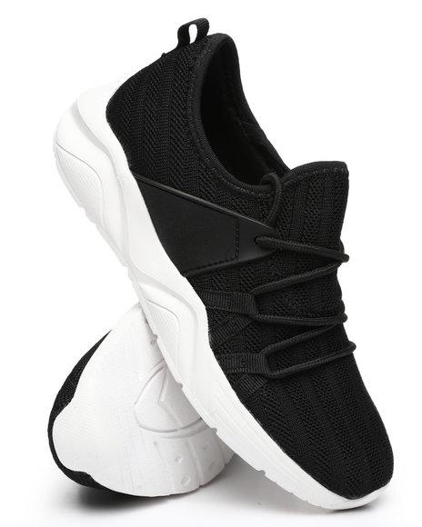 Qupid - Fashion Knit Low Cut Sneakers