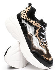 Qupid - Croco Multi Pattern Chunky Sneakers-2494732
