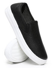 Qupid - Perforated Slip-On Sneakers-2494771