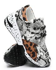 Qupid - Mixed Pattern Sneakers-2494780