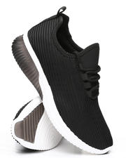 Qupid - Knit Ribbed Sneakers-2494811