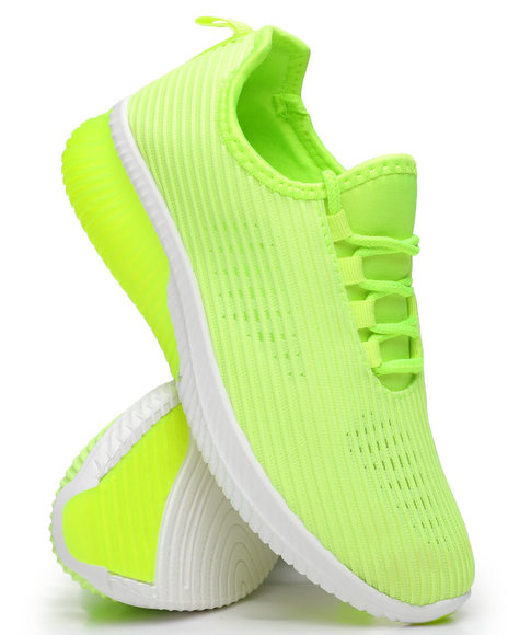 Qupid - Knit Ribbed Sneakers