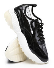Qupid - Clear Lace-Up Sneakers-2494835