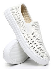 Qupid - Perforated Slip-On Sneakers-2494854