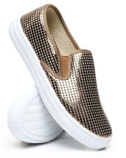 Qupid - Perforated Slip-On Sneakers-2494863
