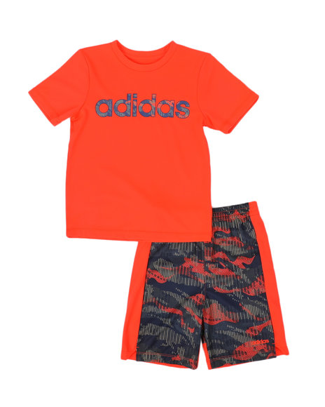 Adidas - 2 Pc Core Tee & Camo Shorts Set (4-7)