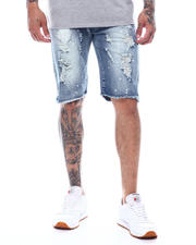Shorts - Vintage Bleach Splatter Ripped Denim Short-2495423