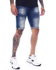 """Men - Orlando Fit Roll up 10.5 """"Denim Short-2495462"""