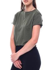 Fashion Lab - Crew Neck Crop S/S  T-Shirt-2495733