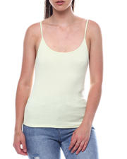 Tanks, Tubes & Camis - Spaghetti Strap Scoop Neck Tank Top-2495777