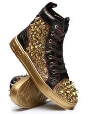 AURELIO GARCIA - Spiked Metallic High Top Sneakers-2496570