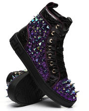 AURELIO GARCIA - Spiked Metallic High Top Sneakers-2496578