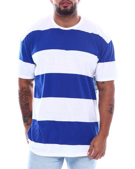 Buyers Picks - S/S Crew Neck Rugby Stripe Tee High-Low (B&T)