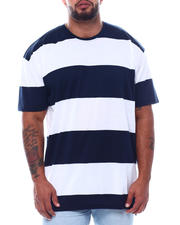 Black Friday Deals - S/S Crew Neck Rugby Stripe Tee High-Low (B&T)-2495357