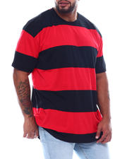 Holiday Shop - S/S Crew Neck Rugby Stripe Tee High-Low (B&T)-2495361
