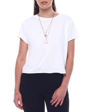 Womens-Holiday - Crew Neck Crop S/S  T-Shirt-2495741