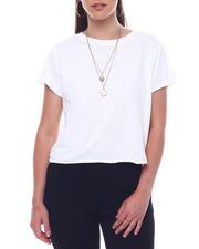 Tops - Crew Neck Crop S/S  T-Shirt-2495741