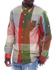 Shirts - Large Plaid Roll Up Shirt-2497647