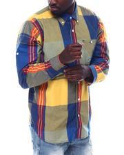 Shirts - Large Plaid Roll Up Shirt-2497656