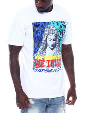 Shirts - In Money We Trust Velour Patch Tee-2497772