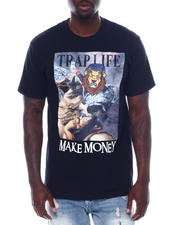 Men - Trap Life Make Money Glitter Tee-2497777
