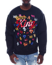 Men - Drip King Glitter Crewneck Sweatshirt-2497100