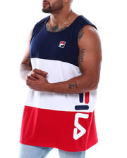 Fila - Sleeveless Tank Top Color Block Vertical Logo (B&T)-2497922
