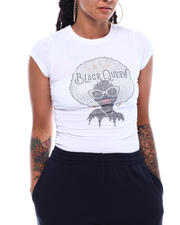 Graphix Gallery - BLACK QUEEN RHINESTONE S/S TEE-2498289