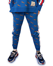 Joggers - Olivia All Over Print Jogger w/Stripe Side-2482909