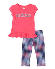 Adidas - 2 Pc Always On Tee & Capri Tights Set (4-6X)-2496453