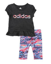 Adidas - 2 Pc Always On Tee & Capri Tights Set (3-24Mo)-2496458