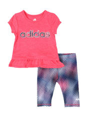 Adidas - 2 Pc Always On Tee & Capri Tights Set (3-24Mo)-2496475