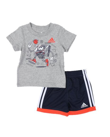 Adidas - 2 Pc Graphic Tee & Cotton Shorts Set (Infant)