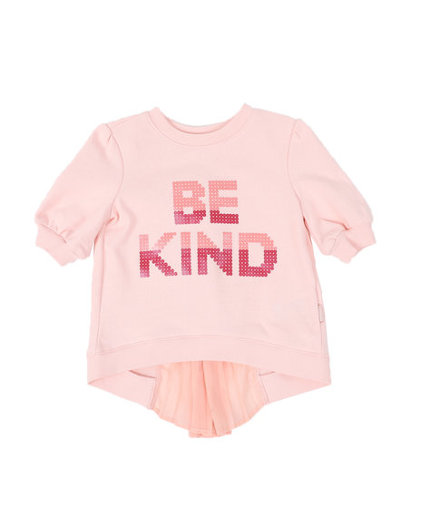 BCBGirls - Be Kind 3/4 Sleeve Ruffle Back Top (2T-4T)