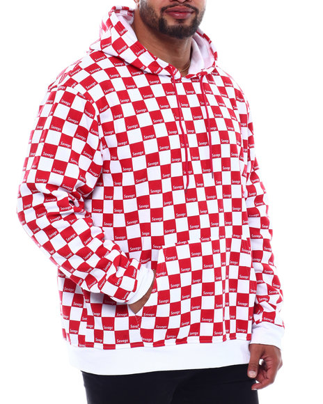 Brooklyn Cloth - Savage All Over Checker Print Hoodie (B&T)