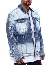 Denim Jackets - Biker Jacket With Bleach Spots (B&T)-2499488