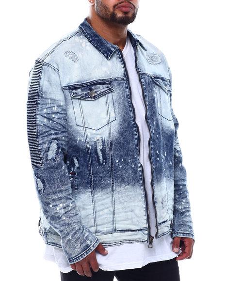 Makobi - Biker Jacket With Bleach Spots (B&T)