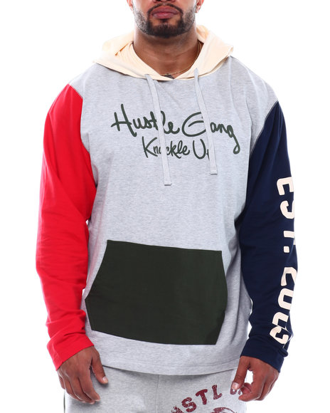 Hustle Gang - Kick It Hood Colorblock Hoodie (B&T)