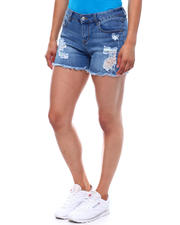 Fashion Lab - Distressed Raw Hem Short-2499511