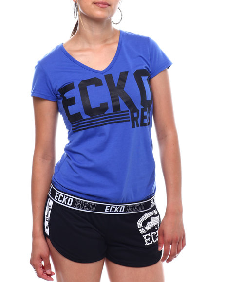 Ecko Red - Ecko Red V-Neck Taped Hem T-shirt