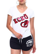 Ecko Red - Ecko Shadow Logo V-Neck T-shirt-2499602
