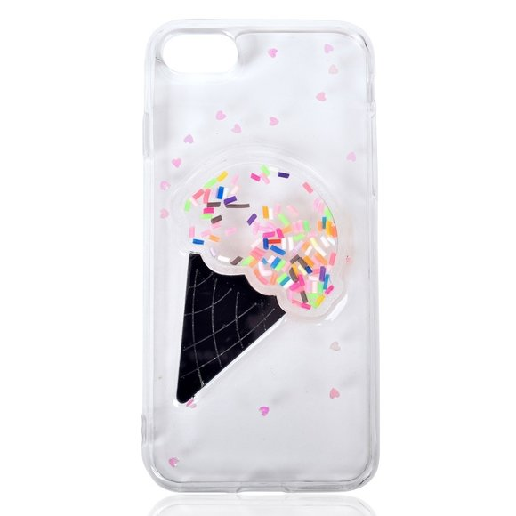 Buyers Picks - Clear Ice Cream Shaky Case-iPhone 7/8 Plus Compatible