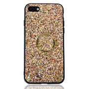 Misc. - Multi Gold Glitter Phone Case With Gold Ring Stand- IPhone 7/8-2498605