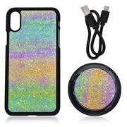 Misc. - 2PC Set; Multi Color iPhone X Phone Case & Wireless Charger With USB Cable-2498609
