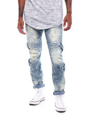 SMOKE RISE - Slim tapered moto jean-2497874
